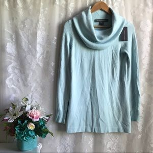 French Connection NWT Cowl Neck Sweater Soft Blue